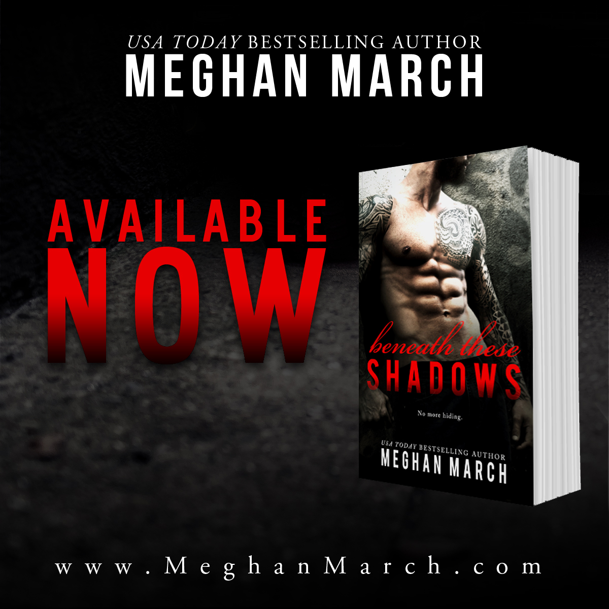 Release Day Blitz ~ Beneath These Shadows ~ by ~ MeghanMarch